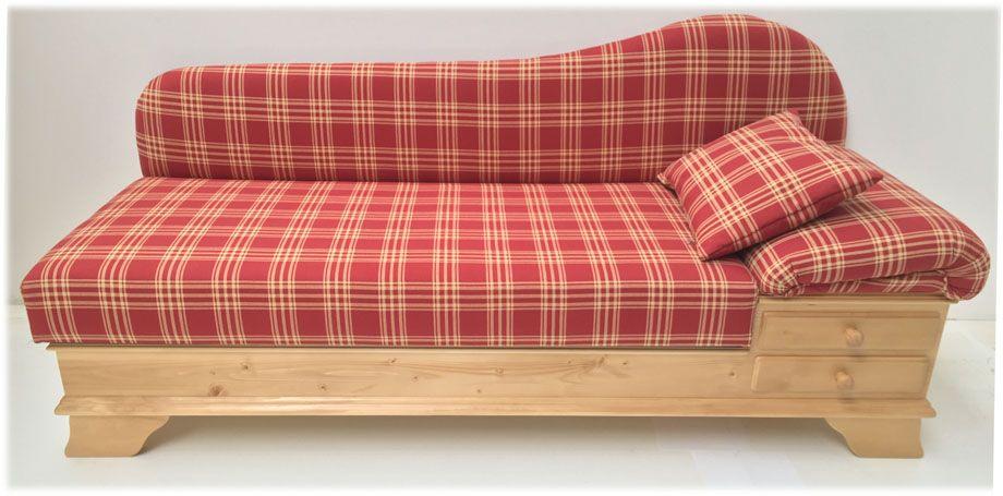 Sofa Liege Chiemgau, Sonderstoff TS-1385 - Landhausmöbel - wohnzimmer couch landhausstil
