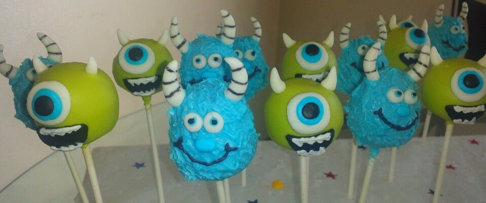 Monsters inc cake pops Cakes by Luz Pinterest Cake pop and Cake