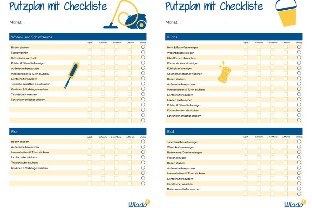 Xxl Putzplan Vorlage In 2020 Putzplan Planer Haushaltsplaner