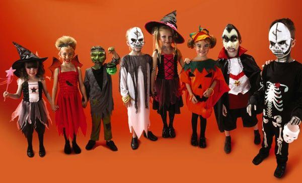 kinder orange wand kostüme ideen günstig Karneval Pinterest