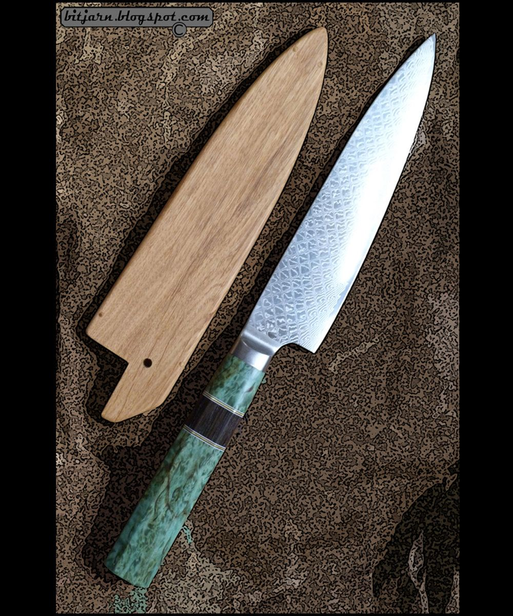 Great And Beautiful Damascus Vg 10 Bladed Gyuto Chefs Knife Knife Chef Knife Light Reflection