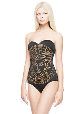 24cfdec5eb1e7 Versace - Embossed Medusa Head Swimsuit