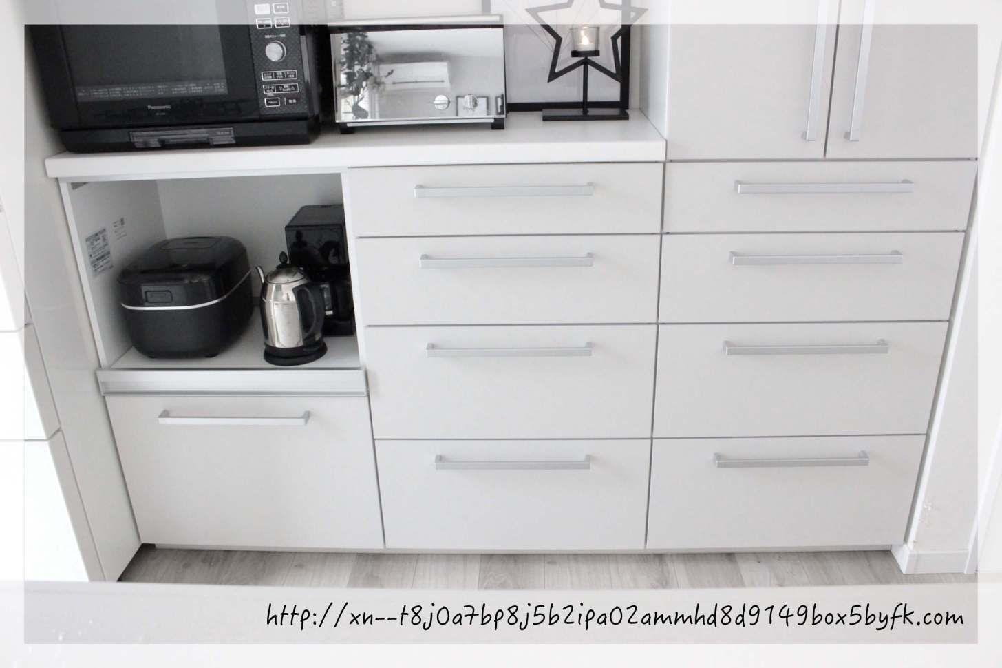 Totoキッチン背面の収納力 カップボードの中身を全部公開 Toto キッチン カップボード 背面収納