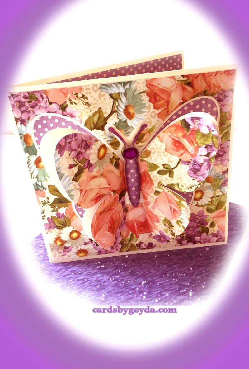 Free Svg Butterfly Pop Up Card By Bird Link On My Blog Enjoy Pin Circuit Die Cut Machine Cake Pinterest