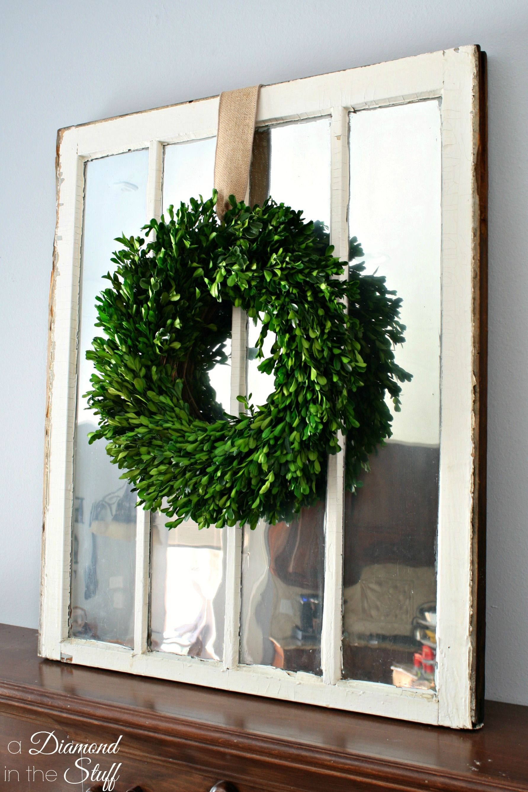 Simple Window Pane Mirror Using A Salvaged Window And