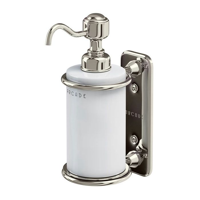 Arcade Wall Mounted Single Soap Dispenser Nickel In 2019 Kitchen
