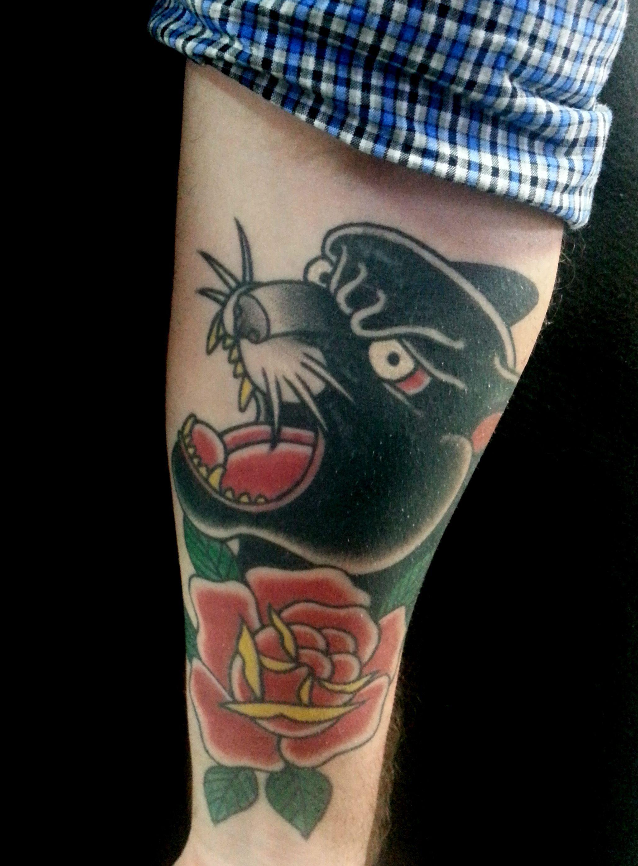 tattoo pantera negra deneka tattooer black panther