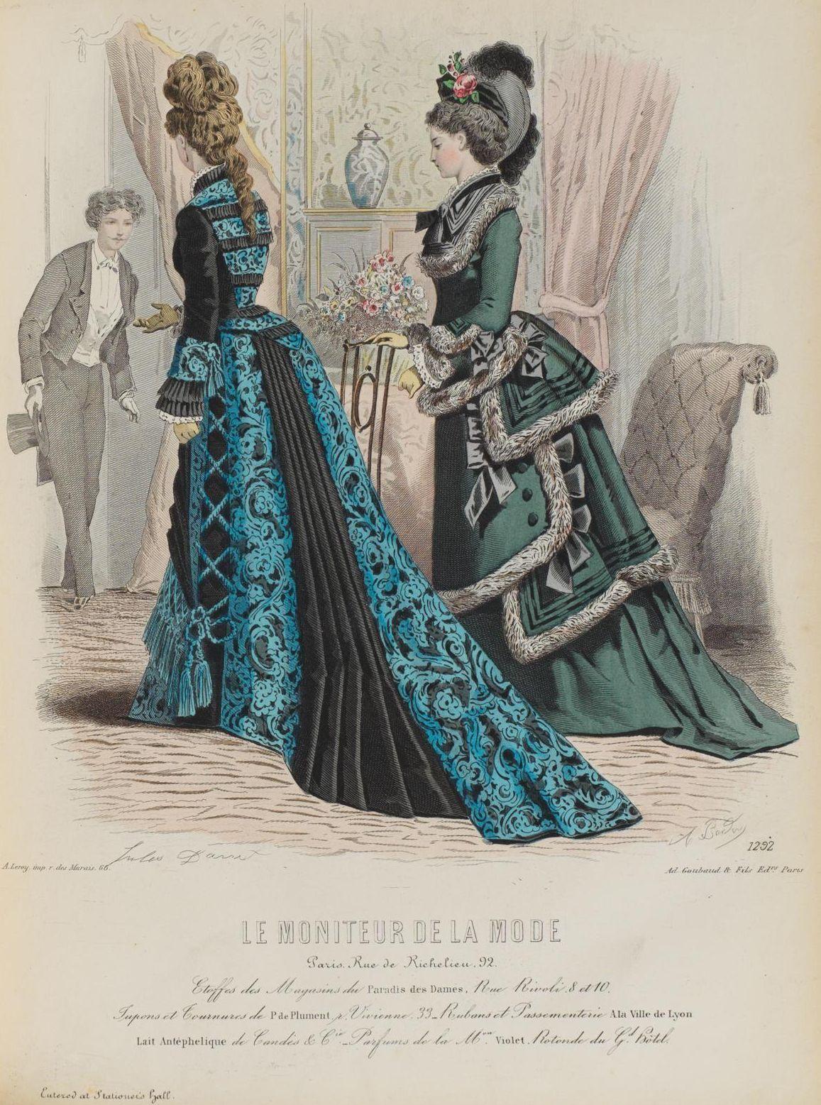 Le Moniteur de la Mode 1876 | 1869-1877 early bustle fashion plates ...