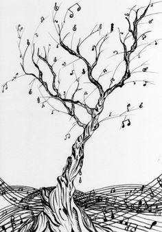 tree music tattoos - Google-Suche