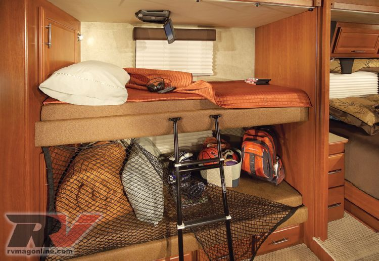 Rv Bunk Beds Center With Wireless Headphones On The Ceiling Of