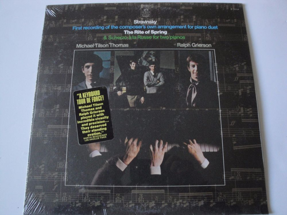 STRAVINSKY THE RITE OF SPRING NEW MINT SEALED VINYL LP THOMAS & GRIERSON ANGEL #Concerto