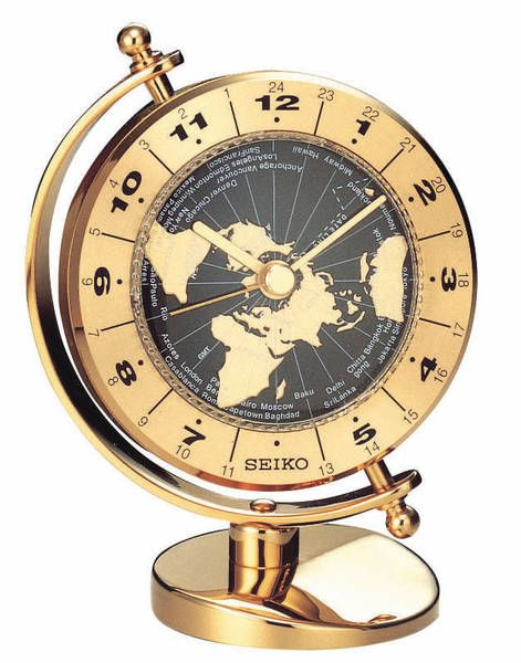 Love love LOVE this brass world map clock! I would put it on my desk even though I'm not an 'executive'!