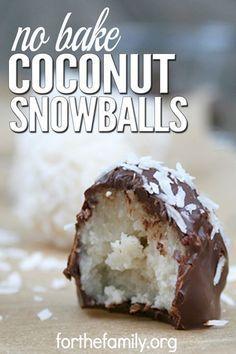 No Bake Coconut Snowballs images