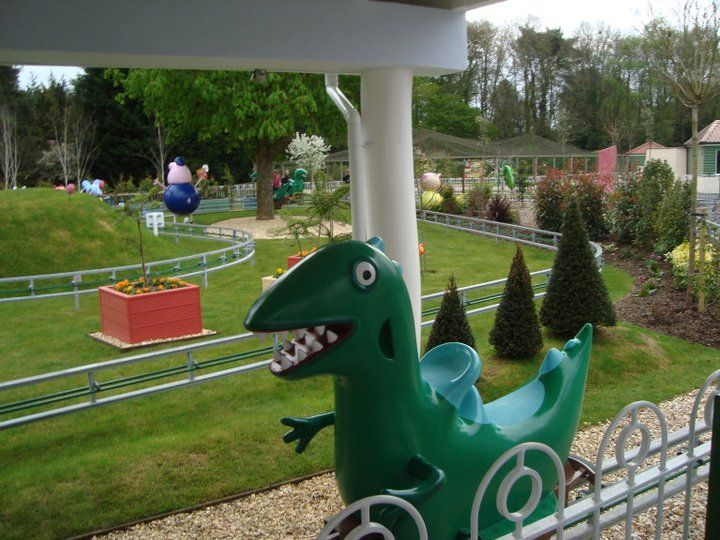 George's dinosaur adventure at peppa pig world, Paultons park. My determination to go here is insane