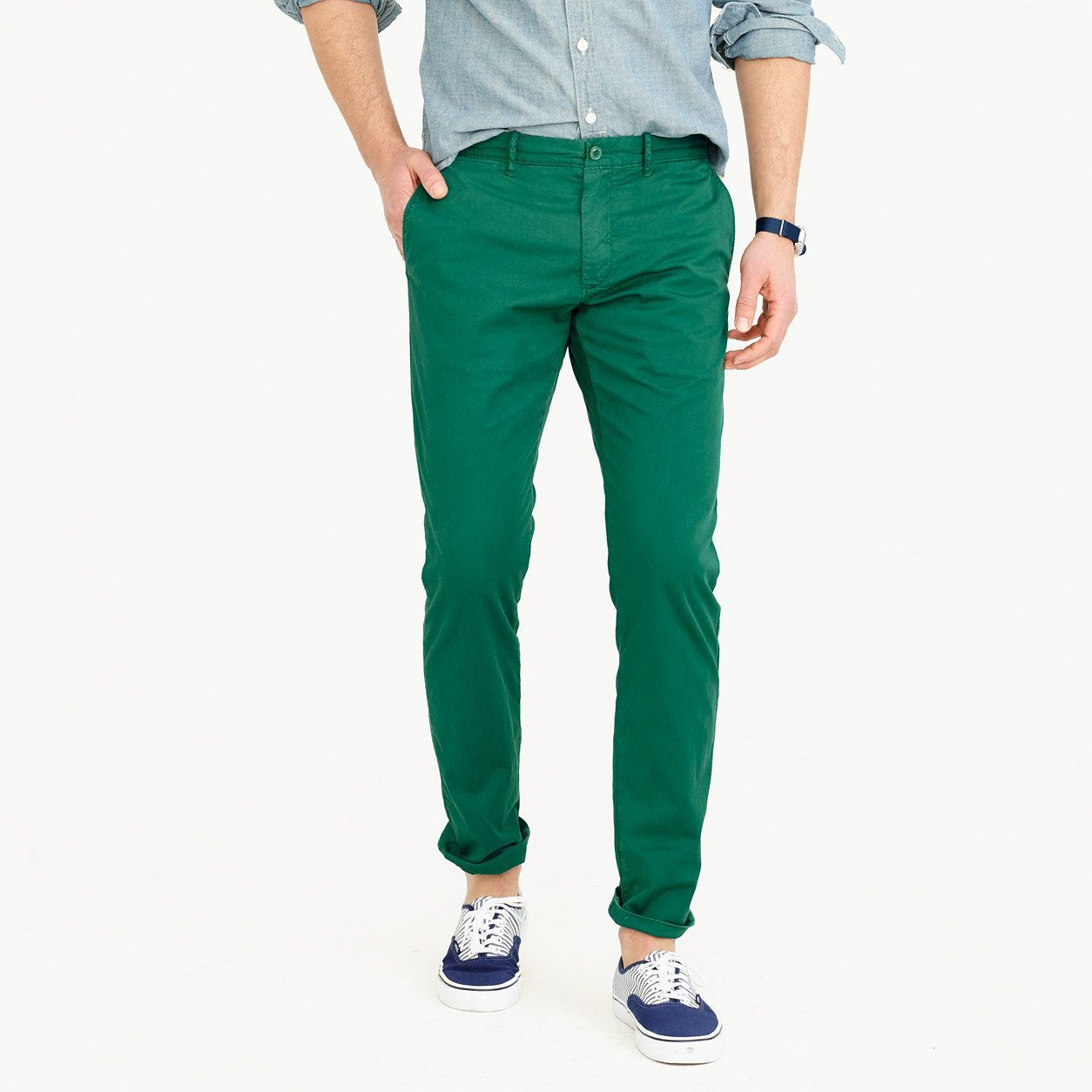 f4b9af23800f J.Crew Mens Lightweight Garment-Dyed Stretch Chino Pant In 484 Slim Fit  (Size 32x34)