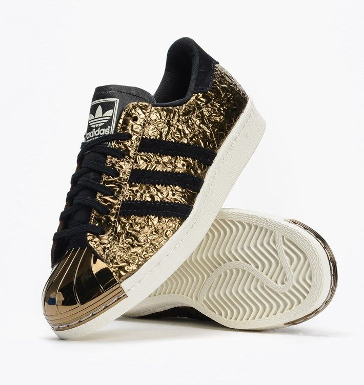 adidas originals superstar gold 80 metal toe trainers