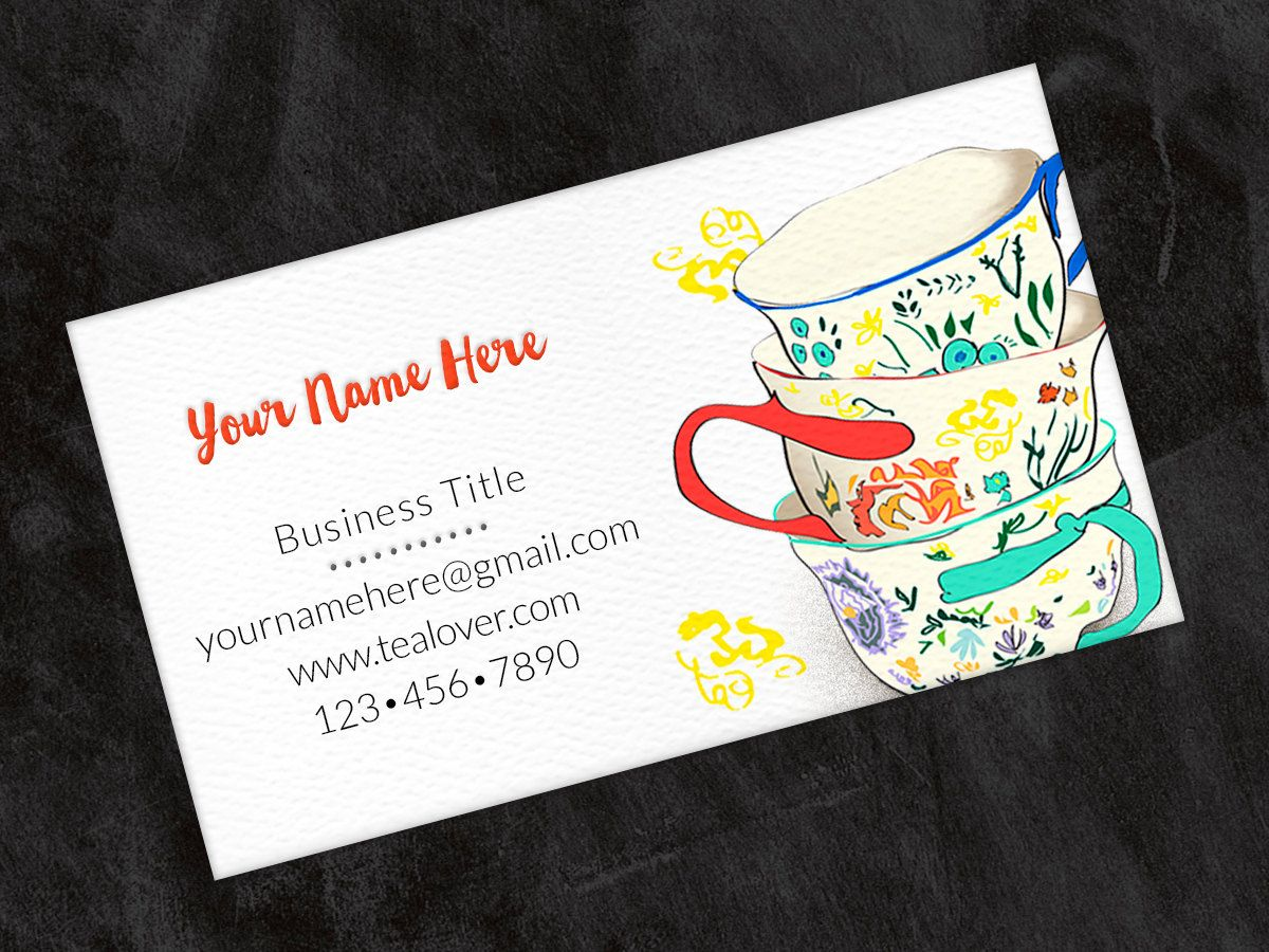 Printed Personalized Business Card Custom Business Card Etsy Custom Business Cards Calling Cards Contact Card