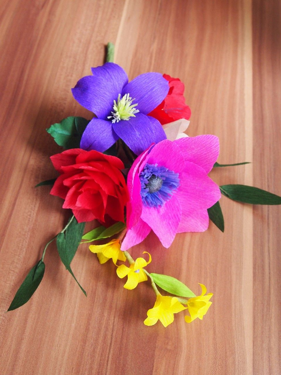 Colorful crepe paper flower bouquet handmade by amelis lovely colorful crepe paper flower bouquet handmade by amelis lovely creations mightylinksfo