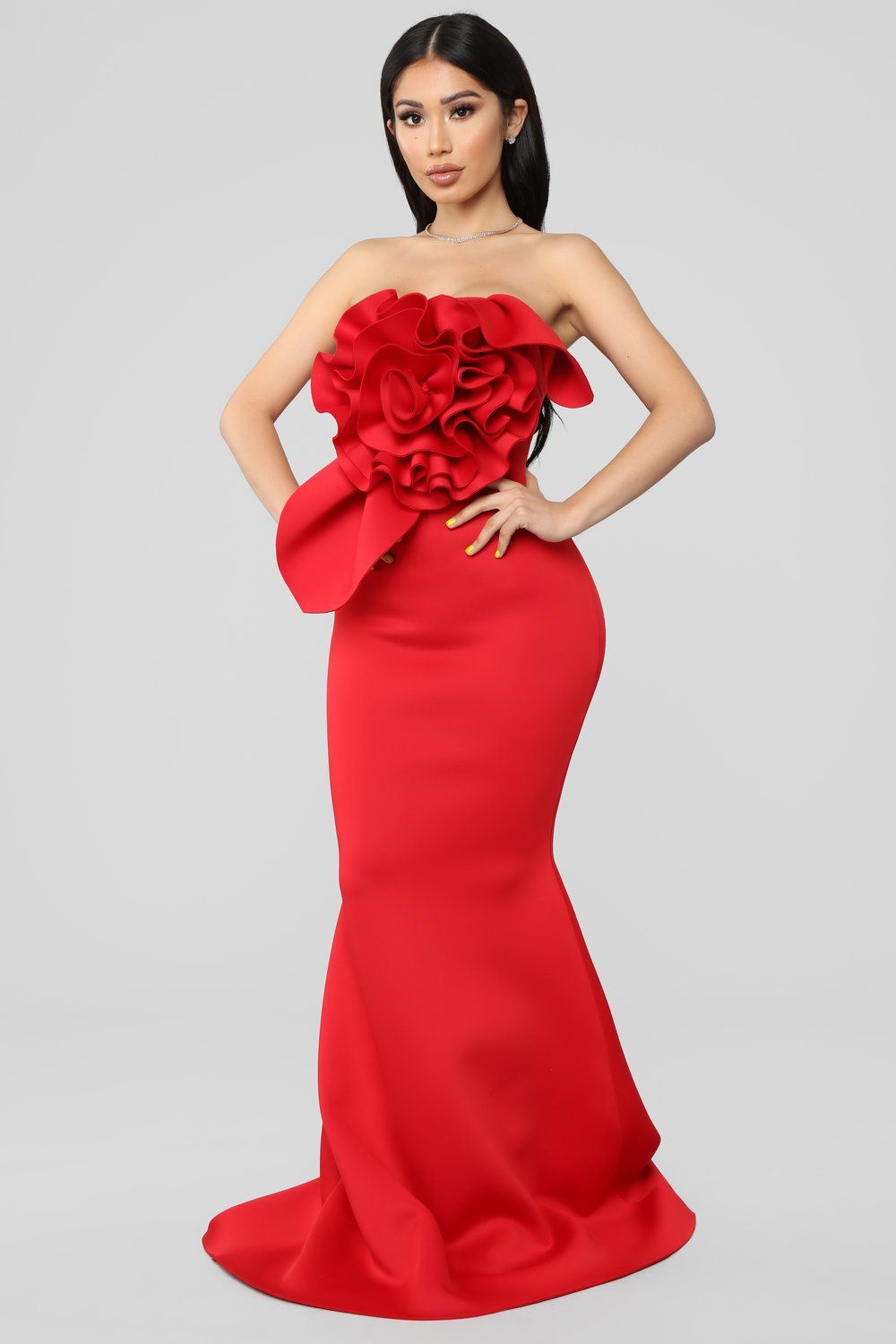594fb096f Prize Worthy Mermaid Gown - Red in 2019 | Red Bridesmaids Dresses ...