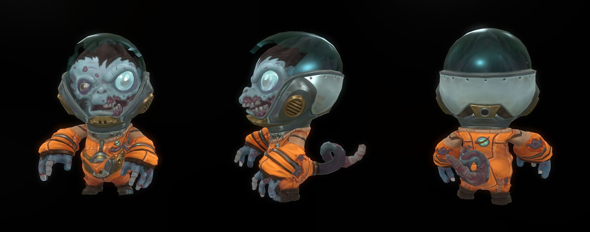 ArtStation - Baby Zombie Space Monkey, Tyler Hunter