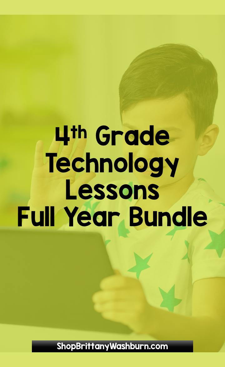 4th Grade Software Lessons BUNDLE