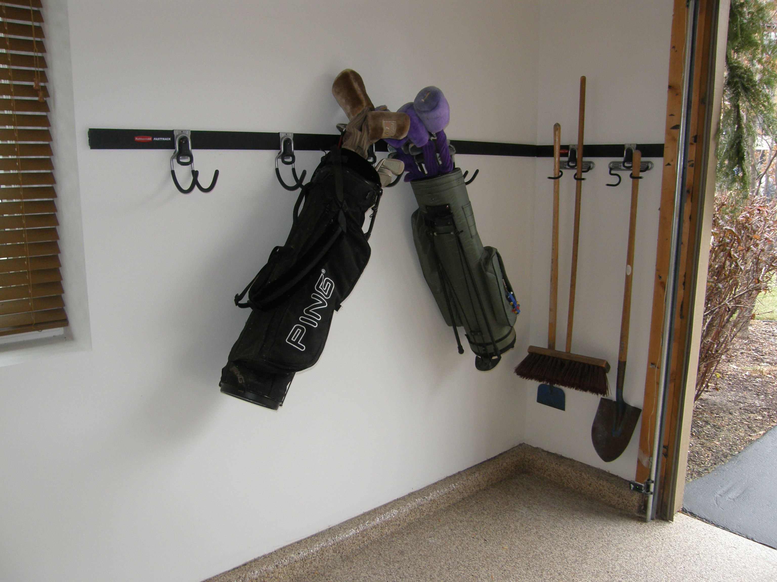 Golf Club Storage Garage Accessories By Closets For Life In Minneapolis St Paul Keep Your Floor Clear Of Clutter With Custom Closet Organization