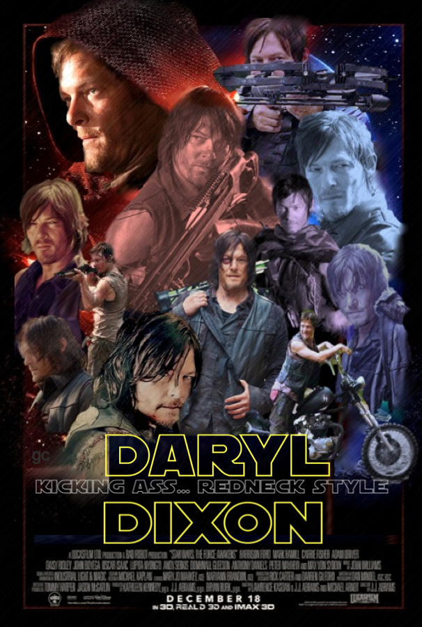 Daryl Dixon The Walking Dead Norman Reedus Star Wars Poster