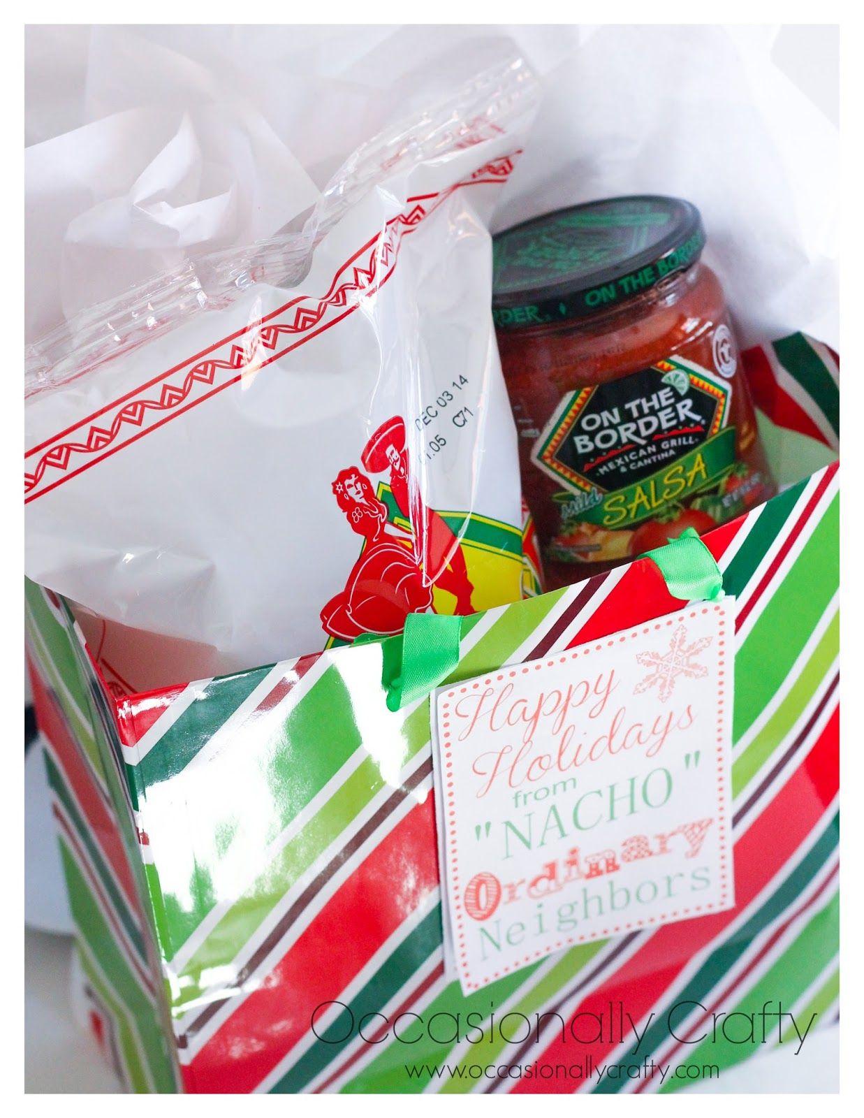 Neighbor Gift Blog Hop Chips And Salsa Printable Tags Neighbor Christmas Gifts Neighbor Gifts Gift Blog