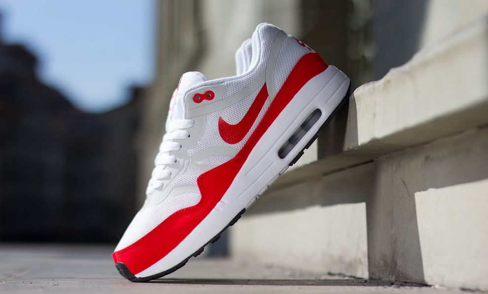 Nike Air Max 1 Premium Tape Red White Grey
