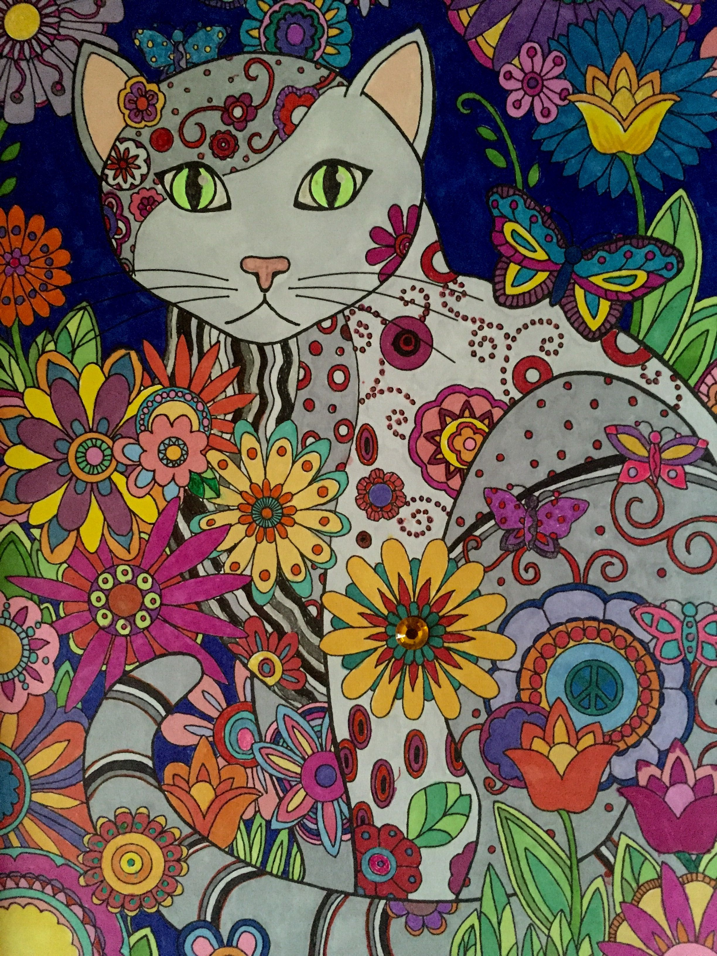 Creative Cats Creative Haven, Dover Publishing Prismacolor Markers ...