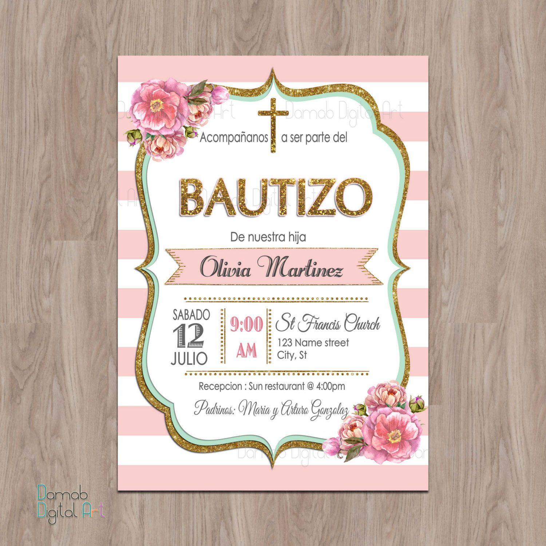 bautizo invitations  invitaciones de bautizo  invitations
