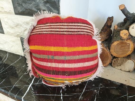 16x16 Round Pillow, Round Cushion Cover, Round Throw Pillow, Circle Pillow Cover, Turkish Round Pillow, Round Kilim Pillow, Circle Pillow