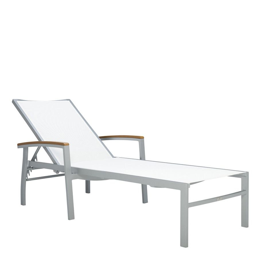 Captivating Beach Chaise KOKO II MESH CHAISE LOUNGE WITH ARMS   JANUS Et Cie