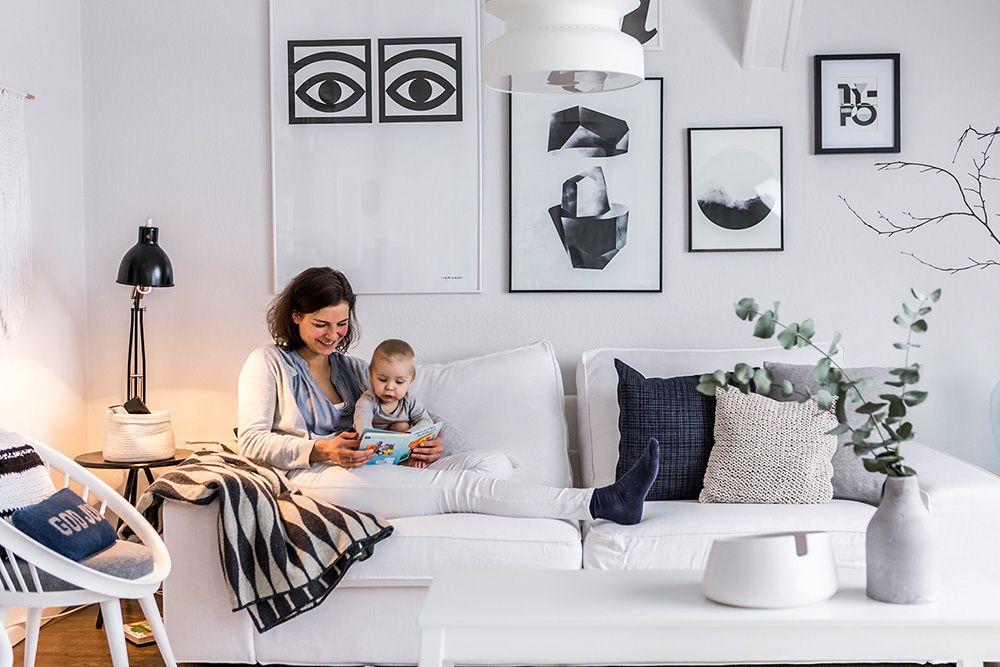 Wohnen in Schwarz-Weiß Karina Kaliwoda richtet Räume stilsicher ein