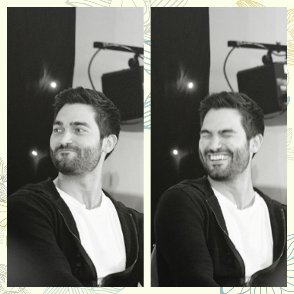 Tyler Hoechlin and his endless happiness that he gives out to everyone - pics from tumblr , source wolfwrecked