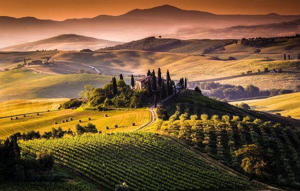 Обои картинки фото toscana, tuscany, тоскана, italy ...