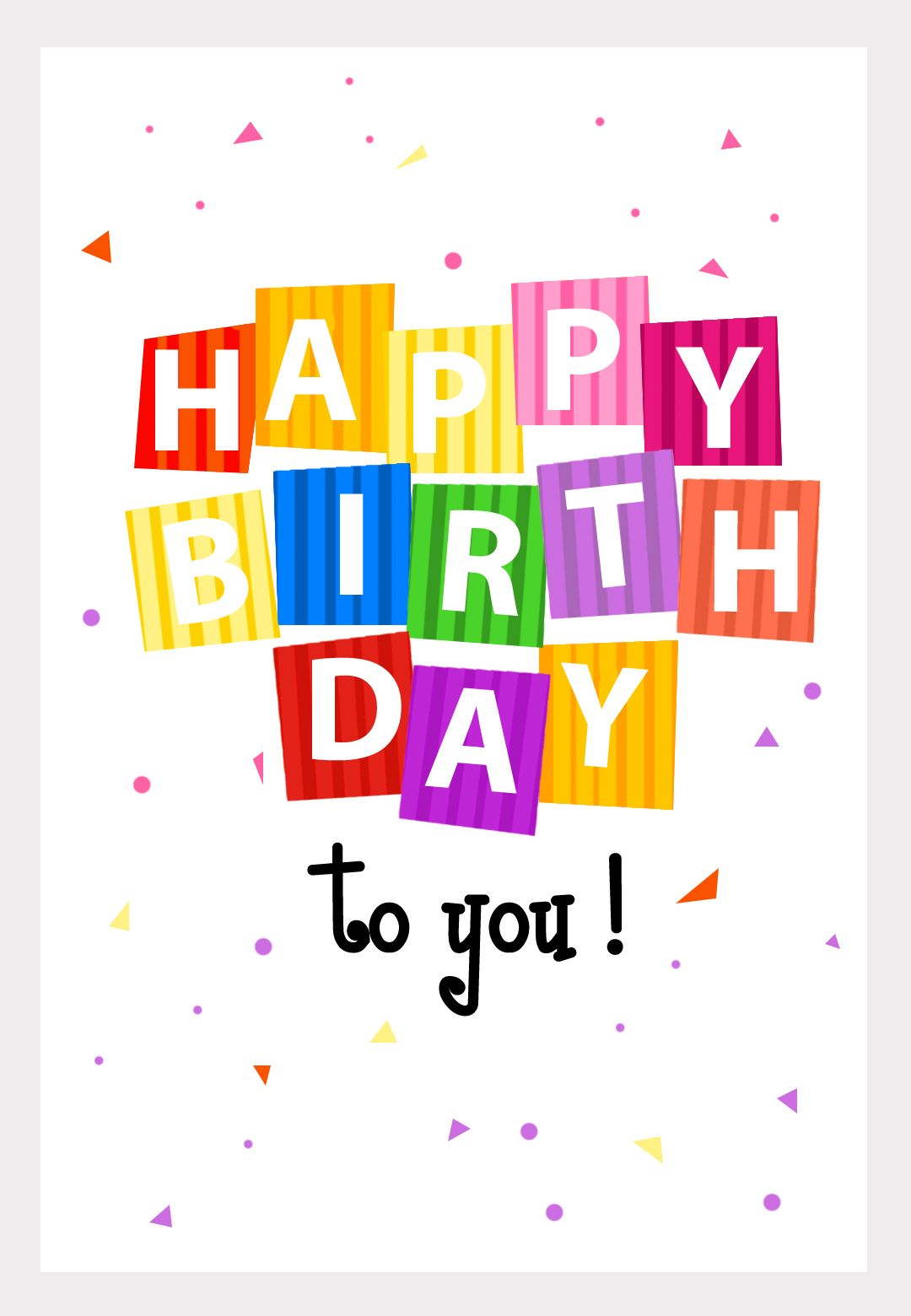 No More Buying Greeting Cards. Personalize And Even Download Pictures To  Printable · Free Happy ...  Happy Birthday Card Template Free Download