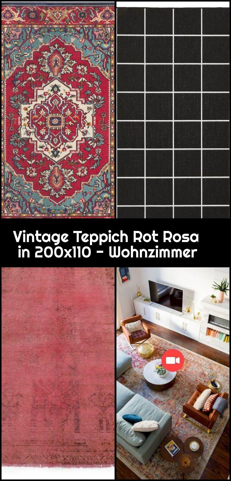Vintage Teppich Rot Rosa In 200x110 Wohnzimmer 200x110 Rosa Rot Teppich Vintage Woh Vintage Teppiche Teppich Vintage