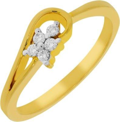 Kalyan Jewellers Less Weight Gold Diamond 18k Yellow 18 K Ring Price In India