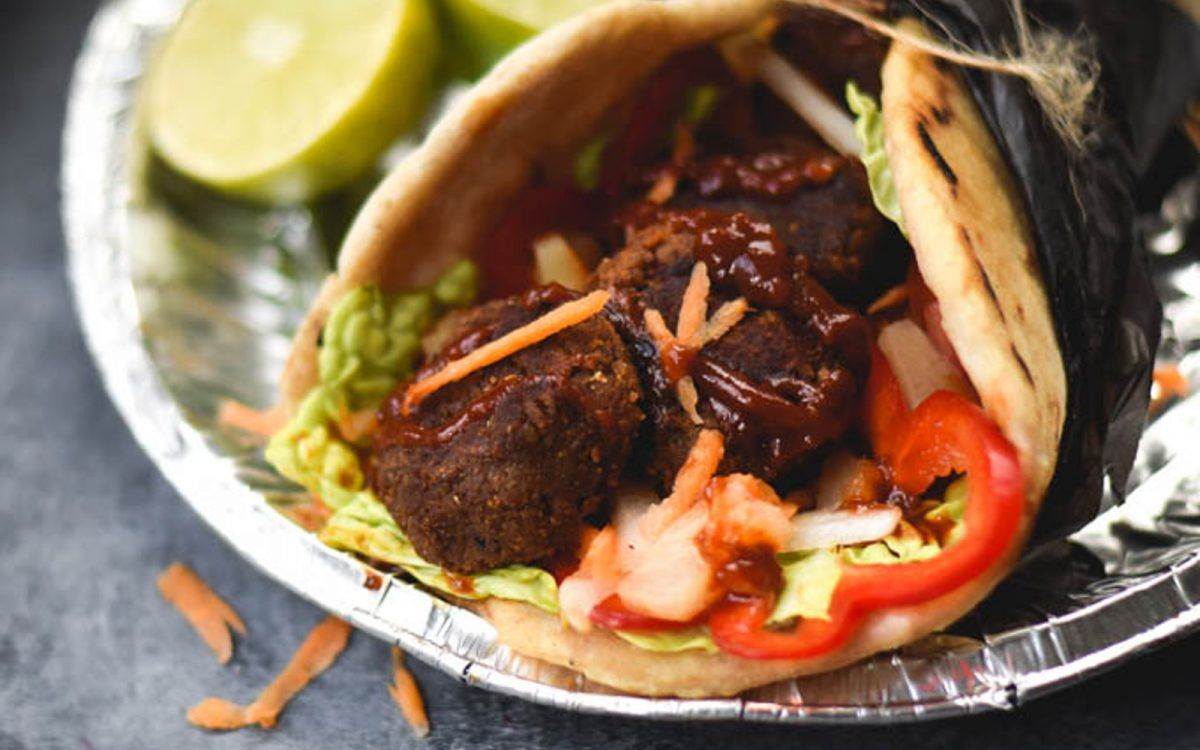 <p>These sweet potato falafel are like jerk-spiced fried hummus fritters, what's not to love about that?</p>