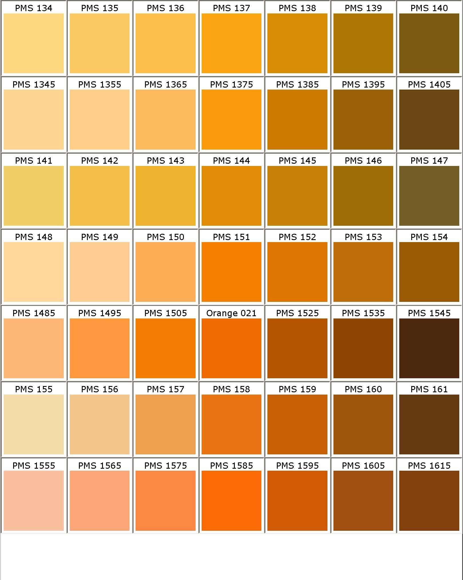 Color chart colours pinterest colour chart for Orange paint colors