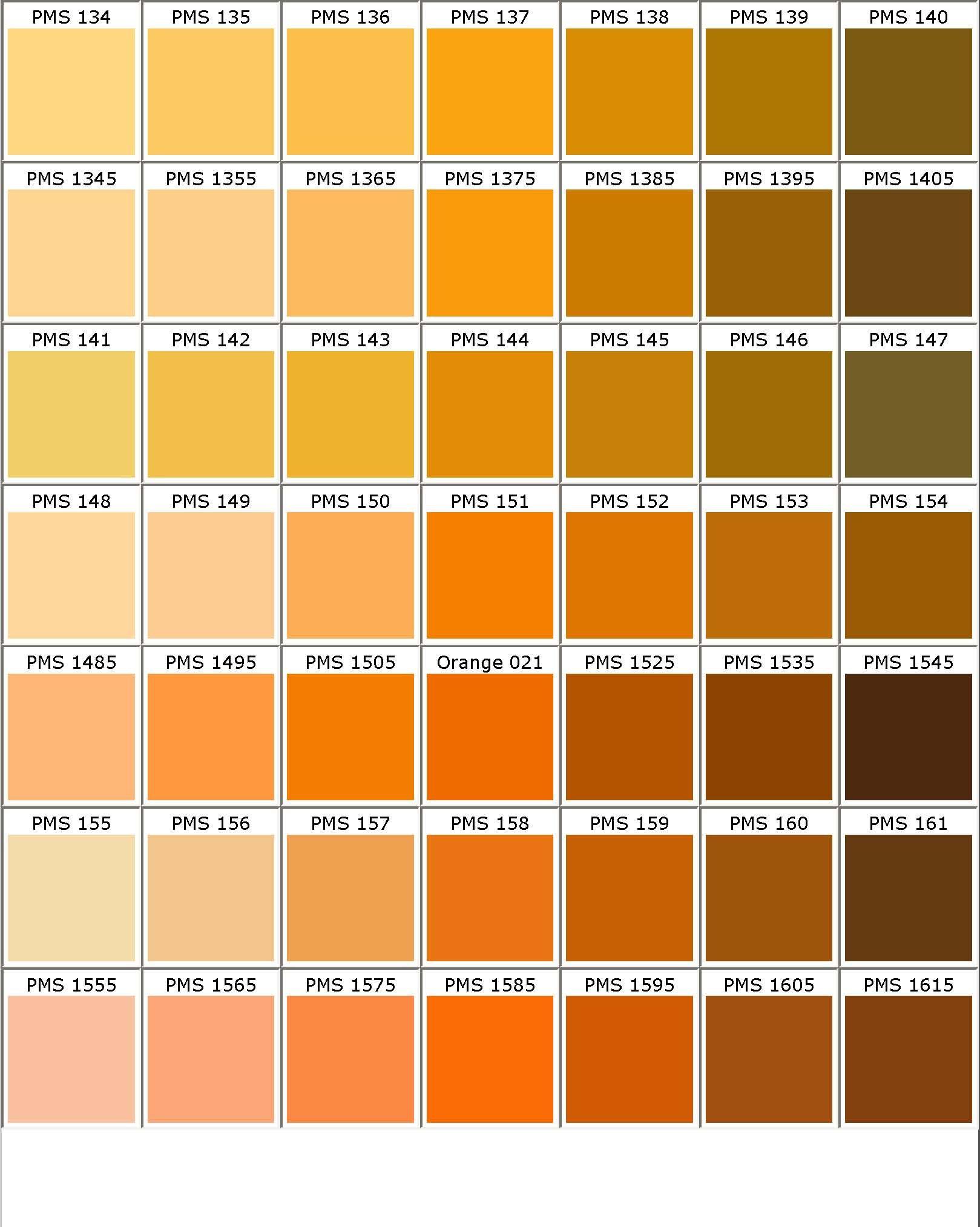 Color Chart  Color Chart    Colour Chart