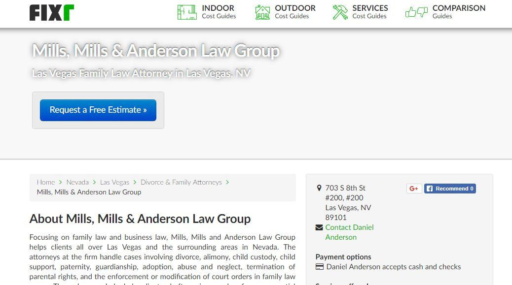 Mills, Mills & Anderson a fullservice law firm for all of