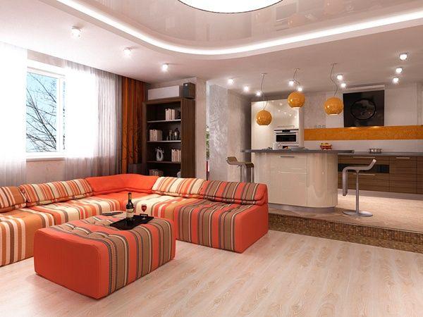 Ideen zur Deckengestaltung abgehängte decke wohnzimmer | Hout ...