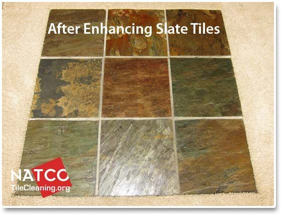 Slate Tiles With A Wet Look Color Enhancement With Images Slate Tile Tiles Patio Tiles