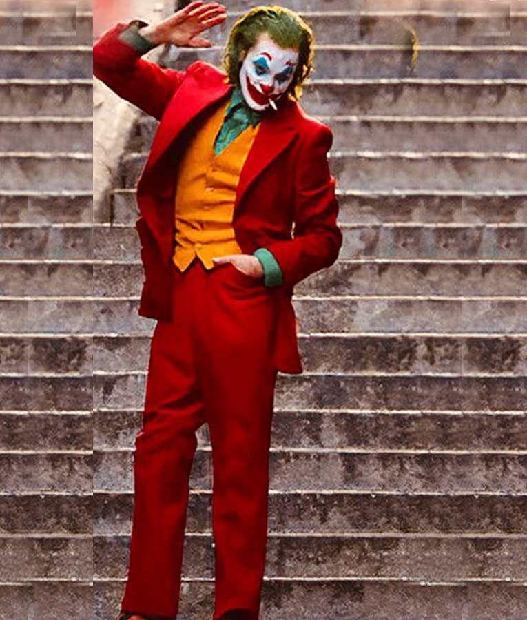 Joaquin Phoenix 2019 Joker Red Suit Joaquin Phoenix Joker