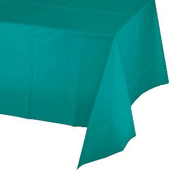 Creative Converting Plastic Tablecover - Tropical Teal