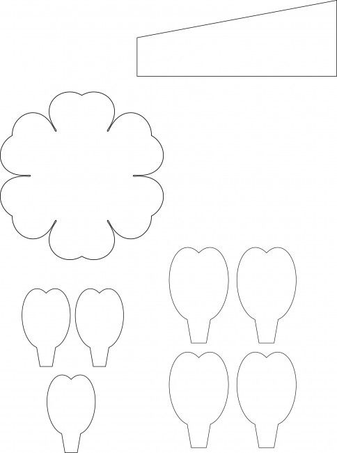 3d flower template - Google Search | flower making - templates ...