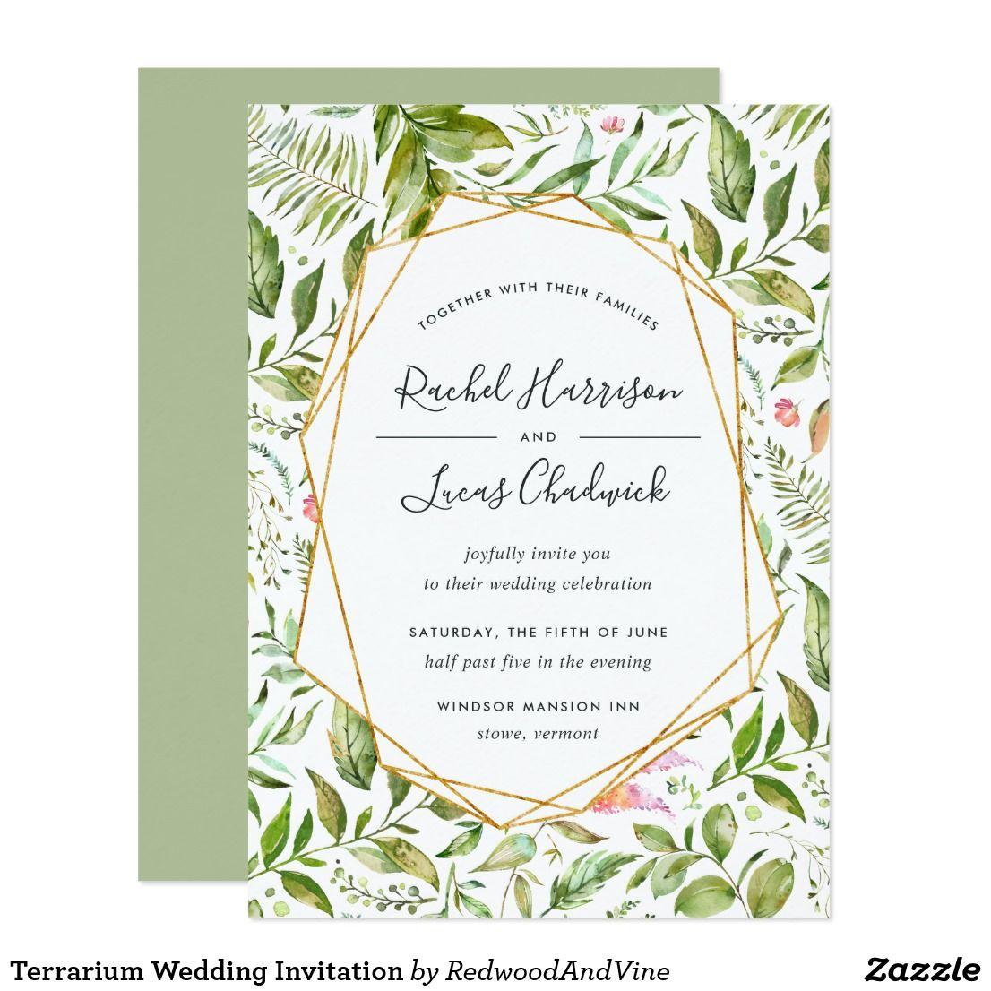 Terrarium Wedding Invitation | Invites wedding, Wedding and Wedding