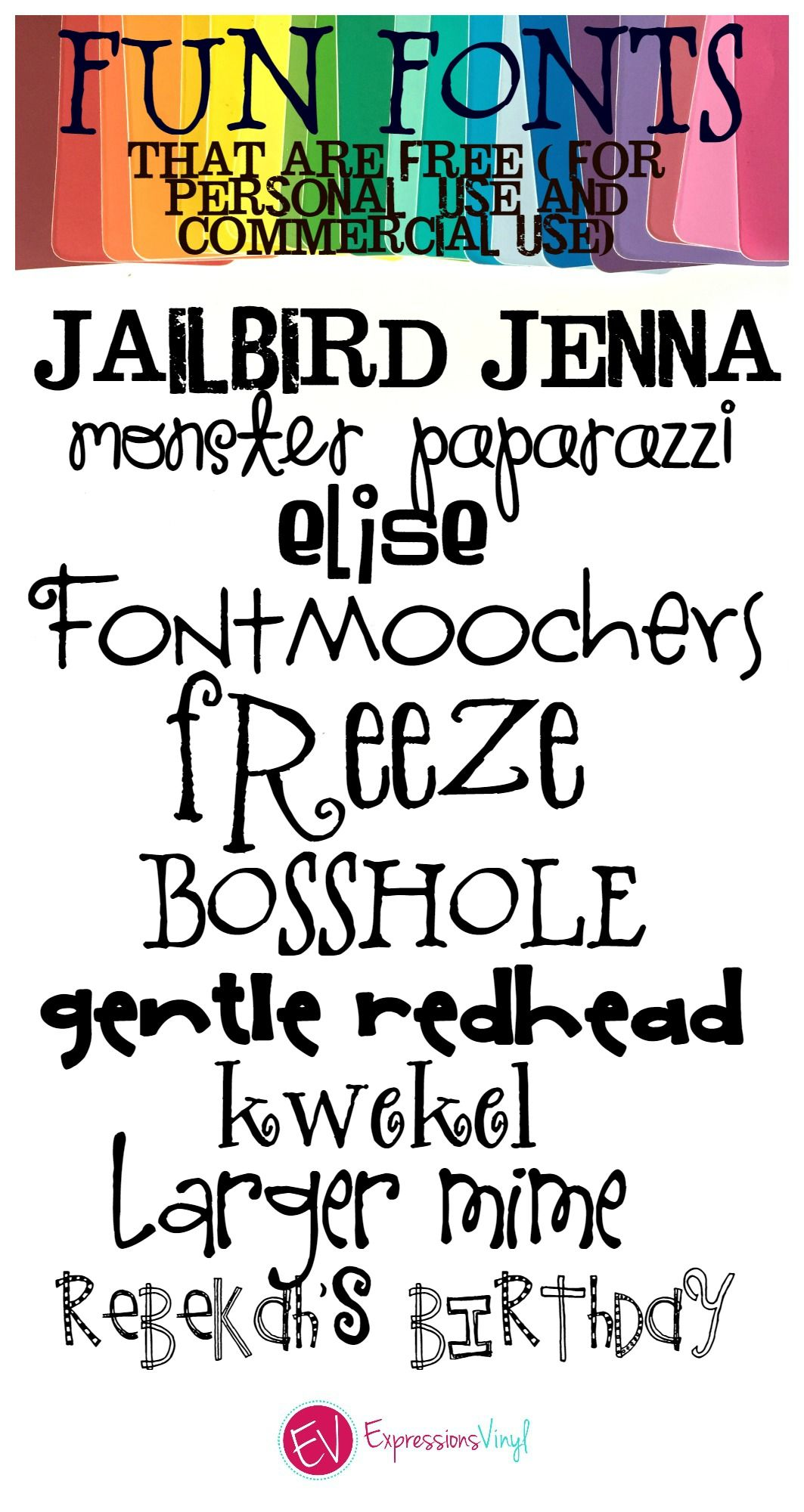 Fun Whimsical Fonts (FREE for Personal and Commercial Use